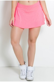 Short Saia Isabelle Bolha Fluor (Rosa Fluor) | Ref: KS-F294-001