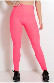 Legging Tecido Bolha Fluor (Rosa Fluor) | Ref: KS-F300-001