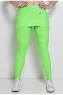 Legging com Tapa Bumbum Bolha Fluor (Verde Limão Fluor) | Ref: KS-F302-002