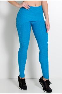 Calça Aranha Tecido Bolha (Azul Celeste) | Ref: KS-F309-009