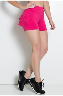 Shortinho  com Babado (Rosa Pink) | Ref: KS-F312-007