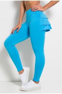 Calça com Babado (Azul Celeste) | Ref: KS-F313-004