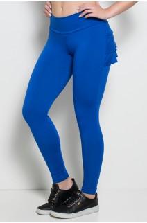 Calça com Babado (Azul Royal) | Ref: KS-F313-003