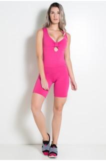 Macaquinho Laços Liso (Rosa Pink) | REF.: KS-F347-005
