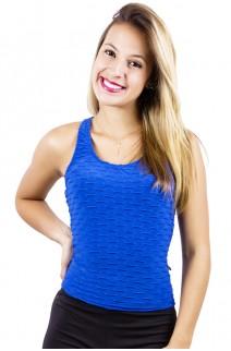 Camiseta Adriane Tecido Bolha | Ref: KS-F352