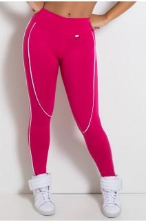 Legging Khloe com Vivo (Rosa Pink / Branco) | Ref: KS-F463-003