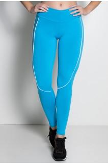 Legging Khloe com Vivo (Azul Celeste / Branco) | Ref: KS-F463-005