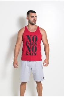 Camiseta Regata (No Pain No Gain) (Vermelho) | Ref: KS-F524-003