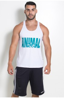 Camiseta Regata (Animal) (Branco) | Ref: KS-F527-001