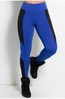 Calça Jéssica Duas Cores (Azul Royal / Preto) | Ref: KS-F567-005