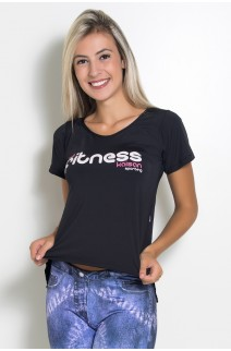 Camiseta Paloma Microlight Be Fitness (Preto)   Ref: KS-F574-001
