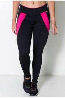Calça Babi 2 Cores (Preto / Rosa Pink) | Ref:F637-004