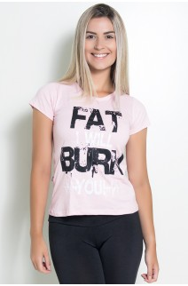 Camiseta Feminina Fat I Will Burn You | Ref: KS-F704