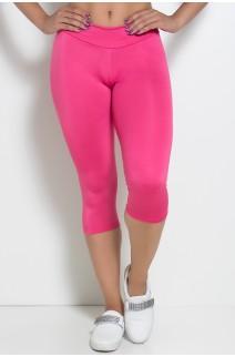 Calça Corsário Suplex (Rosa Pink) | Ref: KS-F73-015
