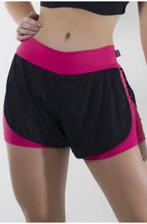 Shortinho  com Dry Fit (Rosa Pink / Preto) | Ref: KS-F763-001