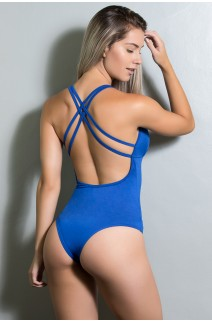 Body Liso com Tiras (Azul Royal) | Ref: KS-F947-007