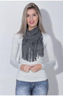 Cachecol Mescla com Franja | Ref: KS-F1821