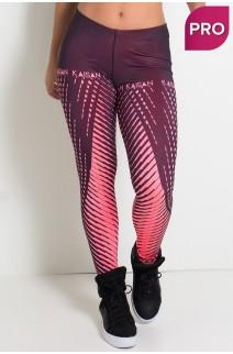 Legging Sublimada PRO (Raios Rosa Neon) | Ref: NTSP11-002