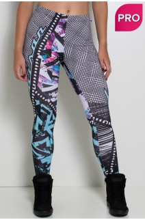 Legging Sublimada PRO (Grafite Colorido) | Ref: NTSP39-001