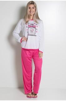 Pijama Feminino Longo 074 (Pink) AB CEZ-PA074-004