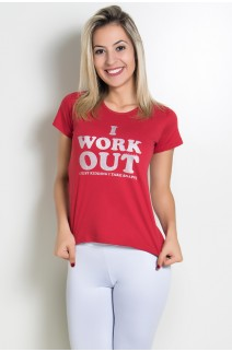 Camiseta Feminina I Work Out | KS-F238