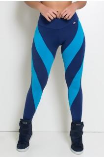 Calça Duas Cores (Azul Marinho / Azul Celeste) | Ref: KS-F946-002