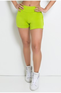Shortinho com Babado (Verde Limão) | Ref: KS-F312-004