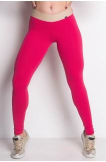 Calça Lisa com Cós de Elástico | Poliamida Excelente! | (Rosa Pink) | Ref: KS-PL28-001