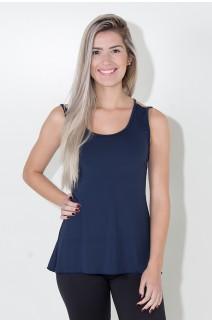 Camiseta de Microlight Nadador com Alça Dupla (Azul Marinho) | Ref: KS-F1022-007
