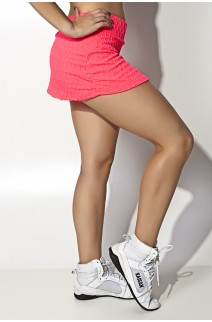 Short Saia Liz Bolha Fluor (Rosa Fluor) | Ref: KS-F295-001