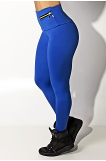 Calça com Bolso e Zíper Adele (Azul Royal) | Ref: KS-F335-003