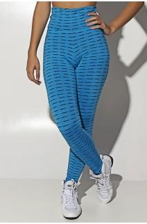 Calça Legging Mini Mesh (Azul Celeste) | Ref: KS-F115-006