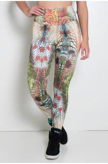Legging Estampada Escama Vermelha e Verde Água | Ref: KS-F27-046