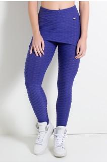 Calça Saia Tecido Bolha (Violeta) | Ref: KS-F225-003