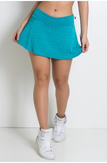 Short Saia Isabelle Tecido Bolha (Verde Esmeralda) | Ref: KS-F265-007