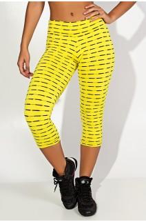 Calça Corsário Mini Mesh (Amarelo) | Ref: F1471