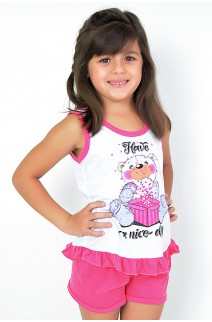 Babydoll Infantil 059 (Pink com ursinho)