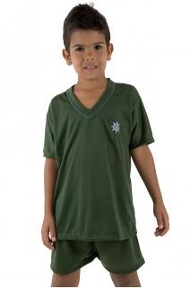 Pijama infantil mas. Curto 037 (Verde Escuro) CEZ-PA037-004