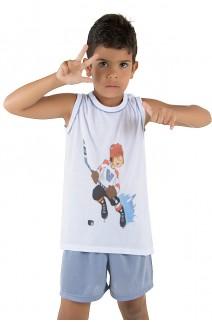 Pijama infantil Mas. Regata 039 (Azul acinzentado) | Ref: CEZ-PA039-002