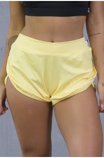 Short Liso com Lateral Transpassado (Amarelo Claro) | Ref: KS-F2013-001