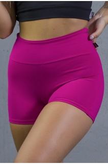 Short Liso Levanta Bumbum | Poliamida Excelente! | (Rosa Pink) | Ref: KS-PL06-001