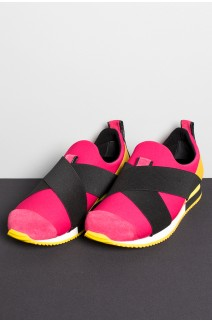 Tênis Violet Saw (Rosa Pink / Amarelo / Preto) | Ref: KS-T62-002