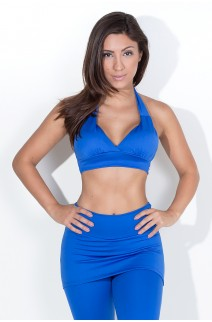 Top Diana Liso com Bojo (Azul Royal) | Ref: KS-F314-007