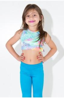 Kit com 5 Tops Infantis com Estampas Variadas (P) | KS-KI05-001