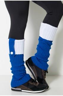 Polaina de Lã Duas Cores (Azul Royal / Branco) | Ref: WES002-008/002