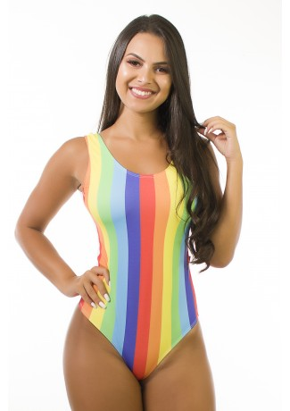 Body Sublimado Cavado nas Costas (Color Stripes) | Ref: BD106-041-002