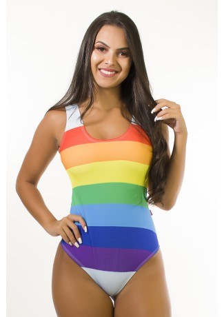Body Sublimado Cavado nas Costas (Rainbow Stripes) | Ref: BD118-041-002
