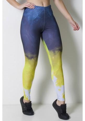 Calça Legging Sublimada Color Smoke | Ref: CAL370-041