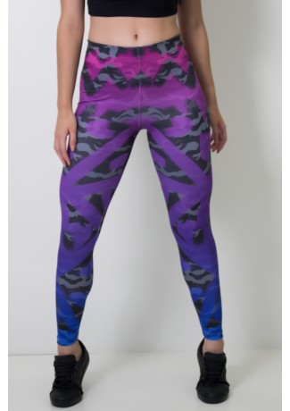 Calça Feminina Legging Estampa Digital Camo Tint | Ref: CAL383-041