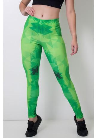 Calça Feminina Legging Sublimada Geomgreen | Ref: CAL387-041